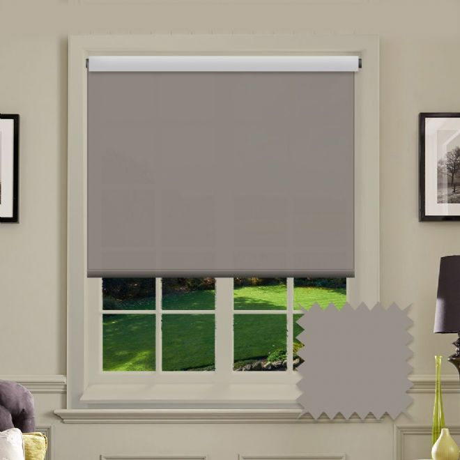 Taupe Roller Blind - Astral Taupe Plain - Just Blinds